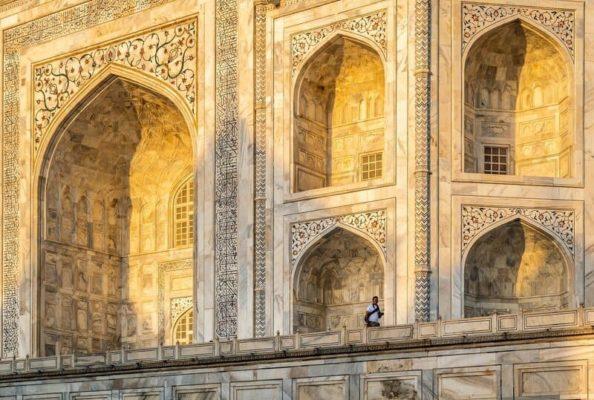 Façade du Taj Mahal