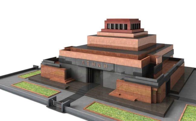 Maquette 3D du Mausolée de Lénine