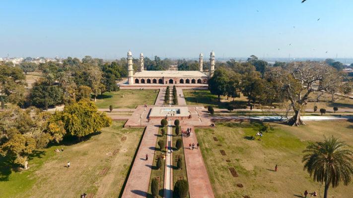 Le tombeau de Jahangir vu de haut